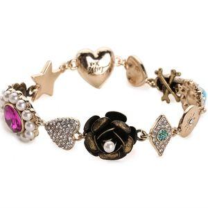 Betsey Johnson Flower Charm Bracelet